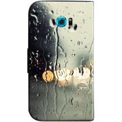 Housse portefeuille à fenêtre Samsung Galaxy S7