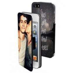 Housse portefeuille avec photo pour iPhone 5
