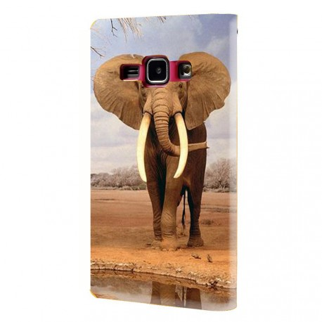 Housse portefeuille avec photo pour Samsung Galaxy J1