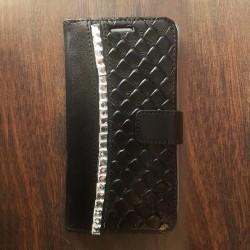 Etui à strass personnalisable portefeuille Samsung Galaxy Grand Prime Noir