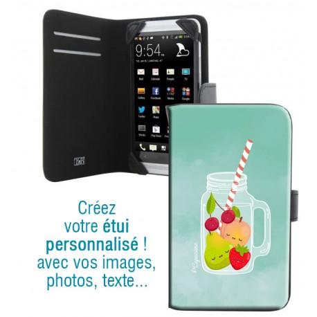 Housse portefeuille avec photo pour Samsung Galaxy Grand Prime