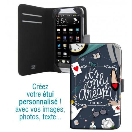Housse portefeuille avec photo pour Samsung Galaxy E5
