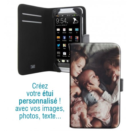 Housse portefeuille avec photo pour LG G4