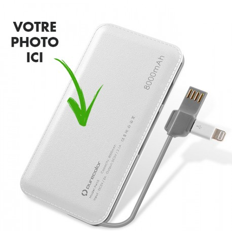 Batterie externe 8000mAh Power Bank personnalisable
