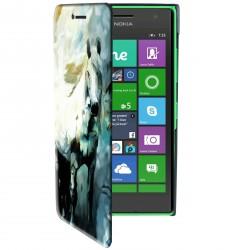 Etui housse portefeuille avec photo pour Microsoft Lumia 850