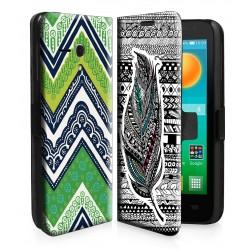 Etui housse portefeuille avec photo pour Alcatel One Touch Pop D5