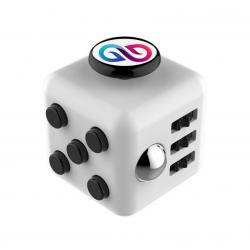 Hand cube personnalisable blanc et noir