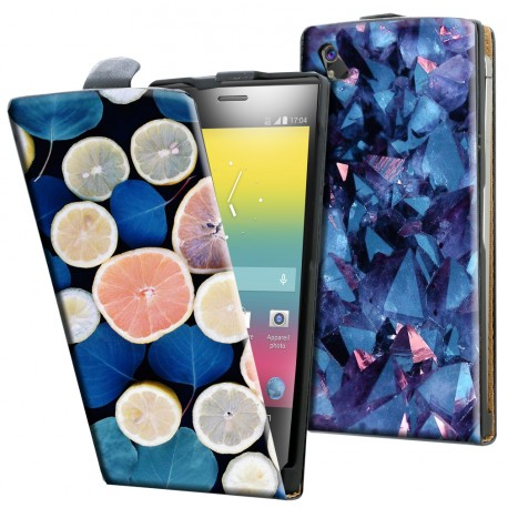 Housse verticale avec photo pour Soshphone 4G