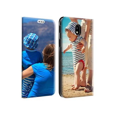 Etui portefeuille blanc Samsung Galaxy J3 2017 personnalisable