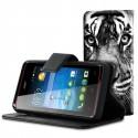 Etui housse portefeuille avec photo pour Acer Liquid Z200