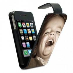 Housse verticale avec photo pour iPhone 4S