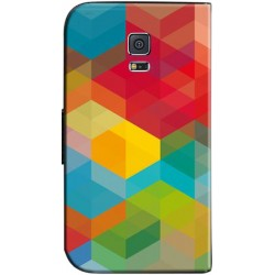 Housse portefeuille avec photo Samsung Galaxy S5