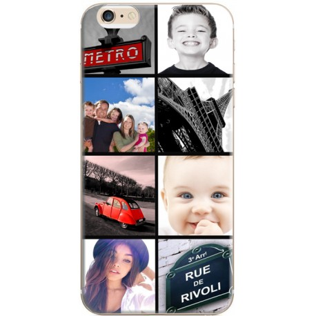coque personnalisable avec photo iphone 6 iphone 6s photomontage mosaique paris