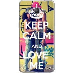 Coque avec photomontage Keep Calm and Love Me Samsung Galaxy Core Prime