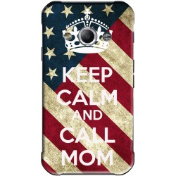 Coque avec photo Keep Calm and Call Mom Samsung Galaxy Xcover 3 personnalisable