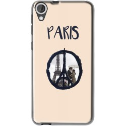Coque avec photo Logo Paris HTC Desire 820