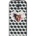"Housse personnalisable avec photo Samsung Galaxy S5 ""Grey Cubik"""