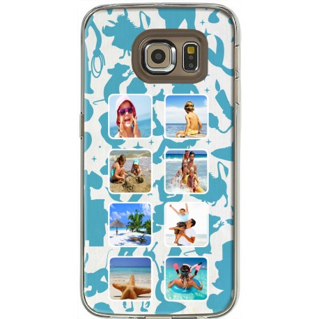 Coque Fond Silhouettes Disney Samsung Galaxy S6 Edge personnalisable