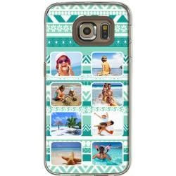 Coque Fond Aztec Vert Samsung Galaxy S6 Edge personnalisable