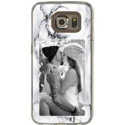 Coque Fond Marbre Blanc Samsung Galaxy S6 Edge personnalisable