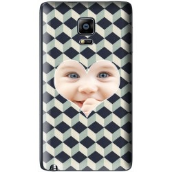 "Coque personnalisable avec photo Samsung Galaxy Note Edge ""Grey Cubik"""