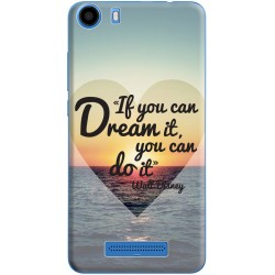 Coque avec photo Citation Walt Disney pour Wiko Lenny 2