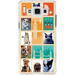 Coque avec photomontage mosaïque Londres Samsung Galaxy A5