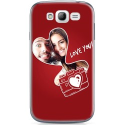 Coque décor I Love You Samsung Galaxy Grand Plus personnalisable