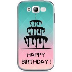 Coque Gateau d'anniversaire Happy Birthday Samsung Galaxy Grand Plus à personnaliser