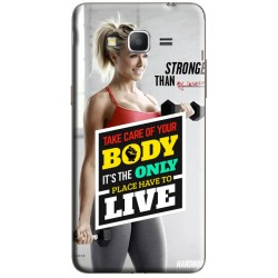 Coque Samsung Galaxy Grand Prime Citation Sport Fitness à personnaliser avec photo